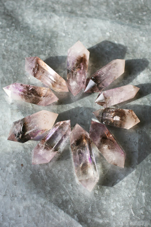 Smokey Amethyst Double Point