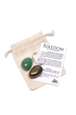 Gift Bag - Pyrit, Aventurine & Clear Quartz