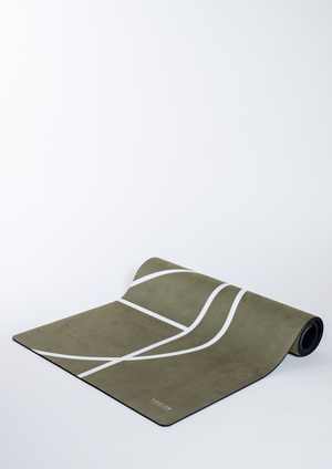 Luxe Yoga Mat Olive - Yogish Collective