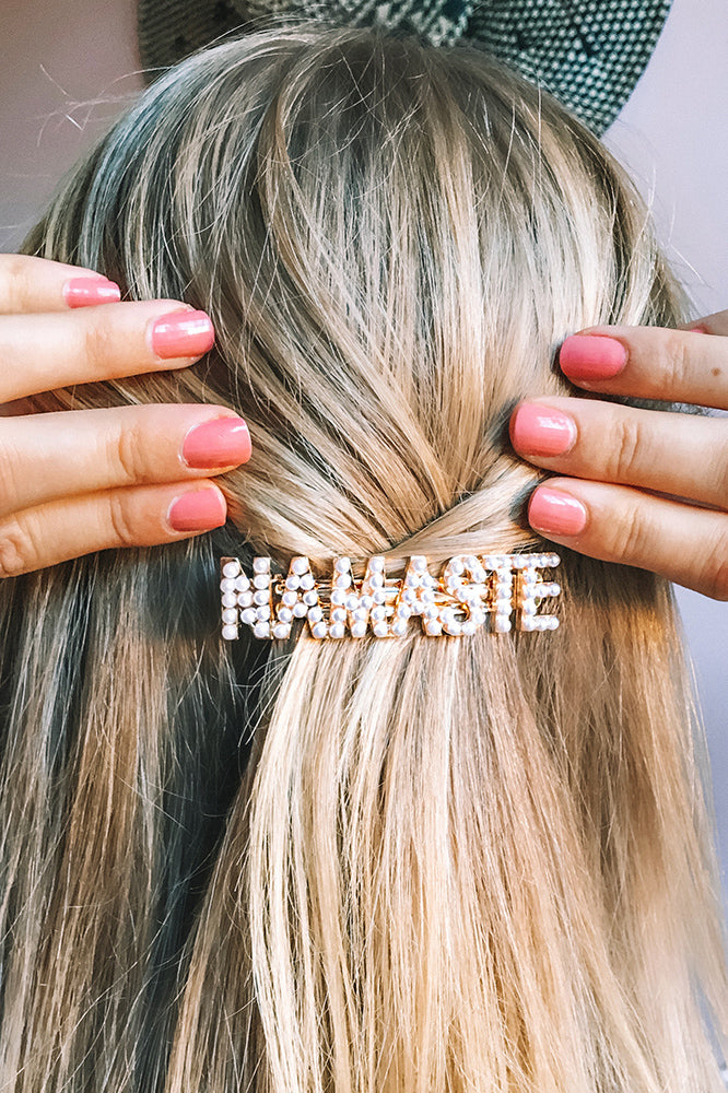 Namaste Pearl Hair Clip - Grounded Factory