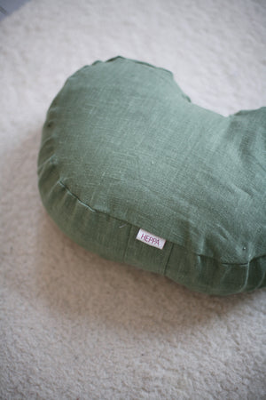 Linen Meditation Pillow - Green - Heppa