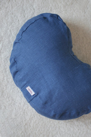 Linen Meditation Pillow - Blue - Heppa