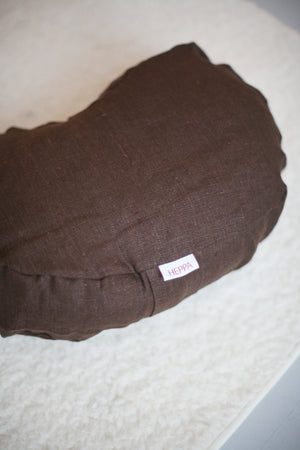 Linen Meditation Pillow - Brown - Heppa