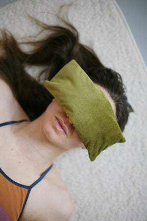 Velvet eye pillow - Moss Green - Heppa