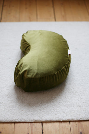Velvet Meditation Pillow - Moss Green - Heppa