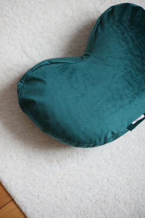 Velvet Meditation Pillow - Petroleum - Heppa