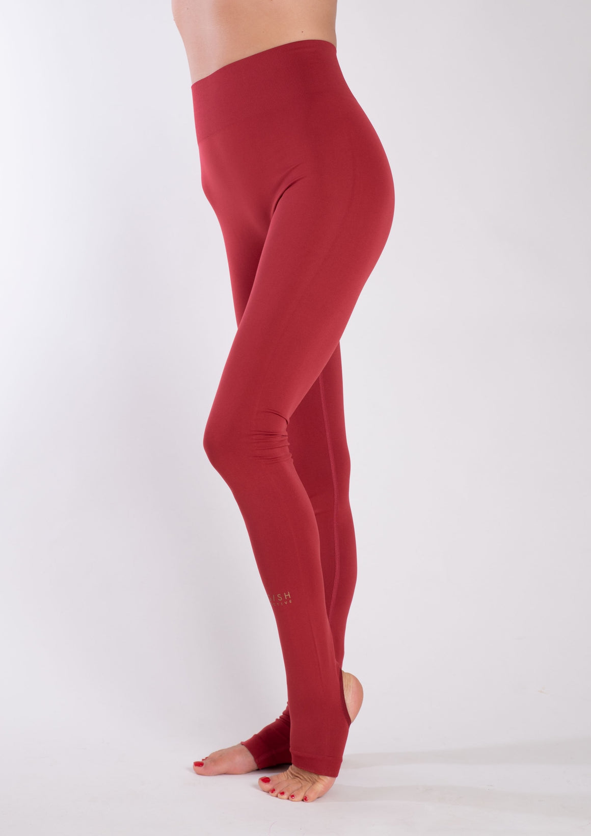 Siri Seamless Leggings Red - Yogish Collective