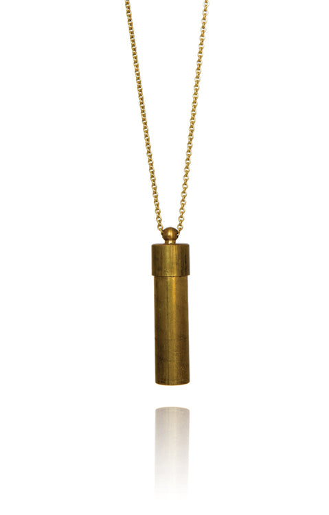 Openable Canister Necklace Brass - Bohemia Collection