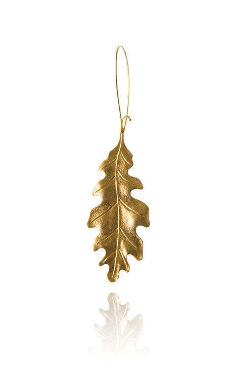 Oak Leaf Earring Brass - Bohemia Collection