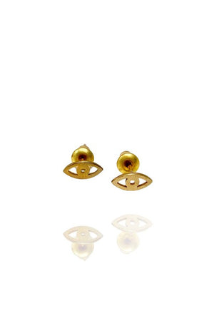 Eye Am Earring Studs Brass - Bohemia Collection
