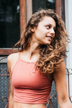 Ester Yoga Top - Peach - Studio Kolektif