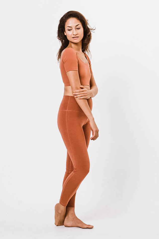 Lydia Yoga Leggings - Peach - Studio Kolektif