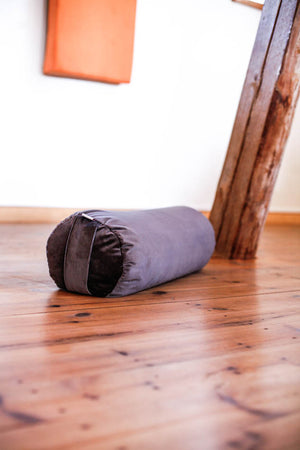 Velvet bolster - Midnight Grey - Heppa