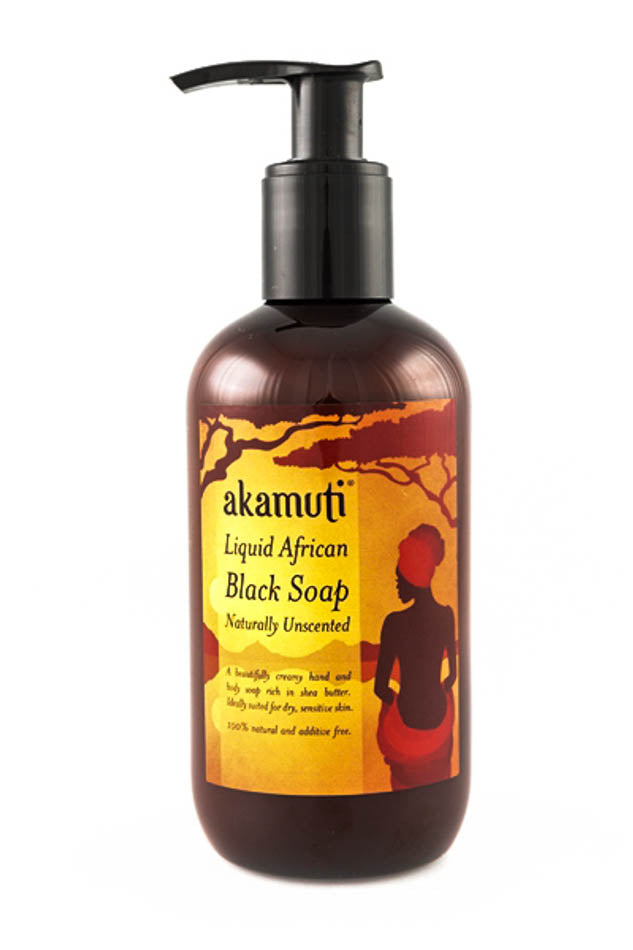 Liquid African Black Soap 250ml - Akamuti