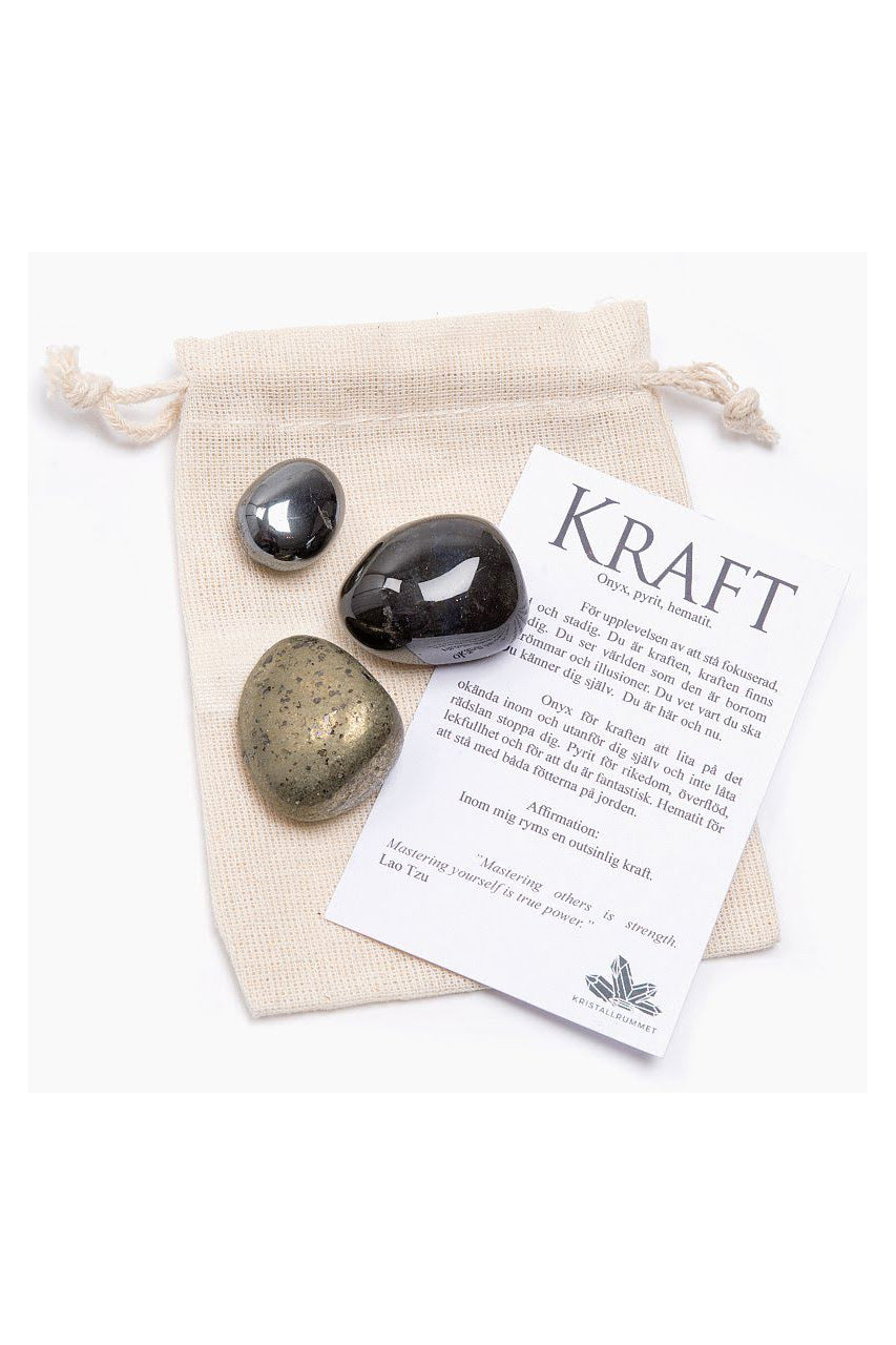 Gift Bag - Power - Onyx, Pyrite, Hematite