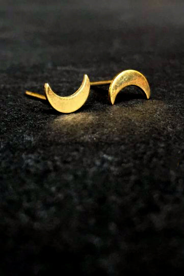Luna Studs Brass - Bohemia Collection