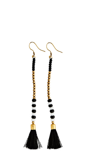 Beaded Tassel Earrings - Madam Stoltz