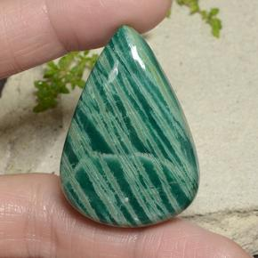 82.80 ct  Pear Cabochon Blue-Green Amazonite 40.4 x 28.2 mm