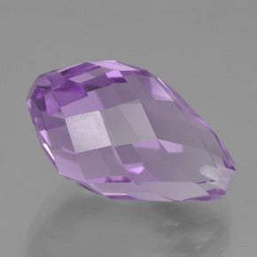 8.22 ct  Half-Drilled Briolette Violet Amethyst 15.6 mm