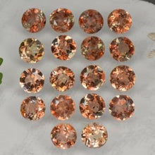 4.23 ct (total) Round Facet Brown Orange Andalusite 3.9 mm