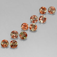 2.48 ct (total) Round Facet Multicolor Andalusite 4 mm