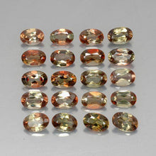 8.19 ct (total) Oval Facet Orangey Brownish Andalusite 5.8 x 4.1 mm