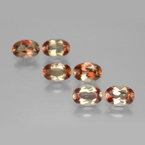2.69 ct (total) Oval Facet Orangey Brownish Andalusite 6 x 4 mm