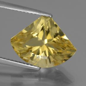5.84 ct  Shark Fin Facet Golden Yellow Apatite 15 x 11.5 mm