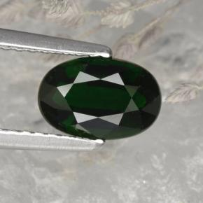 1.17 ct  Oval Facet Green Chrome Tourmaline 8 x 5.3 mm