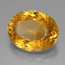 39.85 ct  Oval Portuguese-Cut Yellow Golden Citrine 25.2 x 19.7 mm