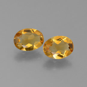 1.93 ct (total) Oval Facet Yellow Golden Citrine 8 x 6 mm