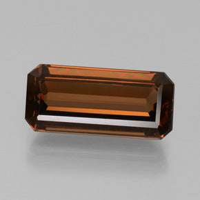7.33 ct  Octagon Facet Greenish Brown Enstatite 16.4 x 7.6 mm