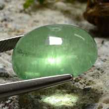 24.92 ct  Oval Cabochon Green Fluorite 18.6 x 17.5 mm