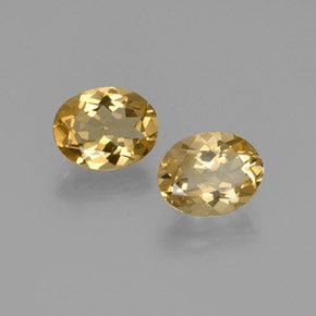 4.53 ct (total) Oval Facet Yellow Golden Beryl 10.2 x 8 mm