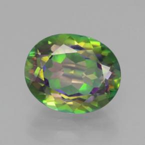 4.65 ct  Oval Facet Multicolor Mystic Topaz 11.1 x 9.1 mm