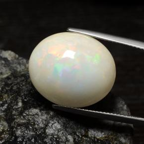 18.33 ct  Oval Cabochon White Opal 20 x 16.9 mm