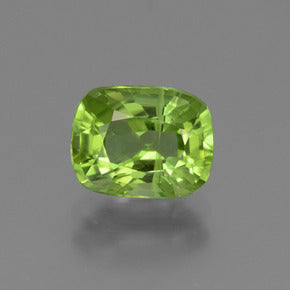 2.13 ct  Cushion-Cut Lively Green Peridot 8.6 x 6.7 mm