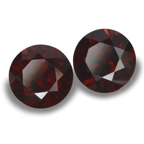 2.23 ct (total) Round Facet Deep Red Pyrope Garnet 6.1 mm