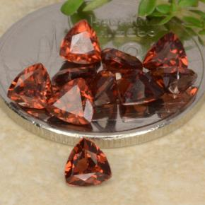 3.22 ct (total) Trillion Facet Red Pyrope Garnet 4.1 x 4.1 mm