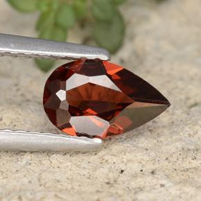 0.76 ct  Pear Facet Red Pyrope Garnet 8 x 4.9 mm