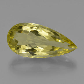 18.98 ct  Pear Facet Lemon Quartz 27.2 x 13.2 mm