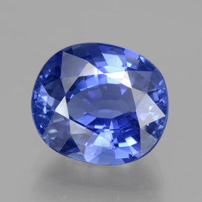 5.67 ct  Oval Facet Blue Sapphire 11.2 x 9.9 mm