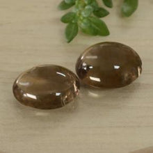6.80 ct (total) Oval Cabochon Brown Smoky Quartz 11 x 8.9 mm