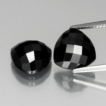 8.92 ct (total) Trillion Rose-Cut Black Spinel 10 x 9.8 mm