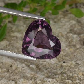 3.60 ct  Heart Facet Purple Spinel 10.2 x 9.2 mm
