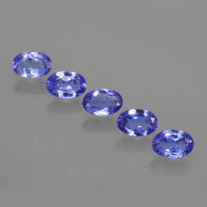 2.35 ct (total) Oval Facet Violet Blue Tanzanite 6.2 x 4.1 mm