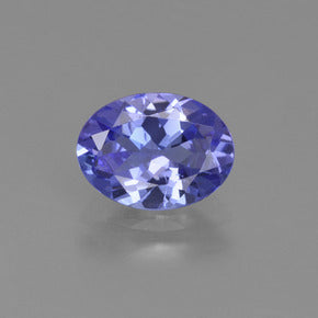 1.18 ct  Oval Facet Violet Blue Tanzanite 7.9 x 6 mm