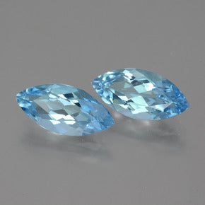 7.52 ct (total) Marquise Facet Sky Blue Topaz 15.1 x 7.3 mm