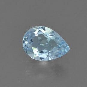 0.78 ct  Pear Facet Sky Blue Topaz 7 x 5 mm