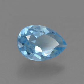 0.77 ct  Pear Facet Sky Blue Topaz 7.1 x 5.1 mm